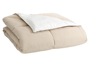 Home Classics Reversible Down-Alternative Comforter Khaki (Brown and White) King Size
