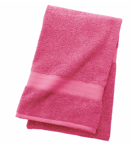 The Big One Solid Bath Towel Pink