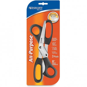 "Westcott 8"" All Purpose Scissors Black 3 ct."