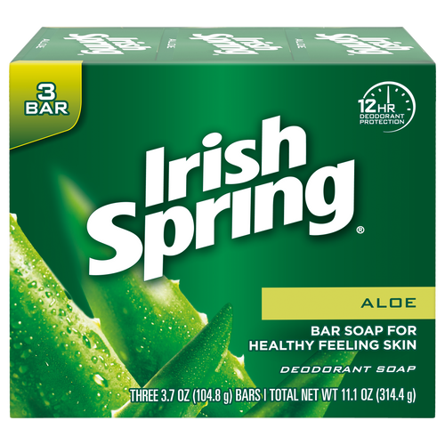 Irish Spring Aloe Bar Soap 3 pk.