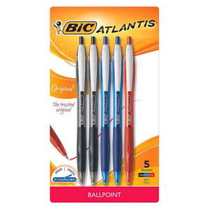 Bic Atlantis pens 5 ct.
