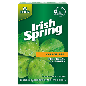 Irish Spring Original bar soap 3.7 oz. bars 6 pk.