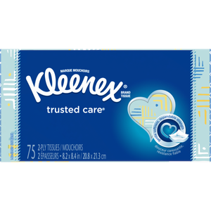 Kleenex 2-ply tissues 75-85 ct.