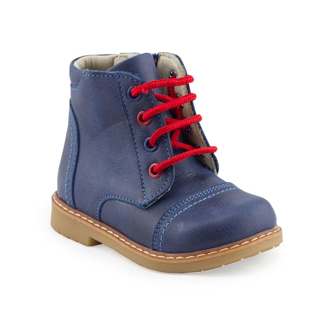 GQ CARTER navy orthopaedic high-top boots