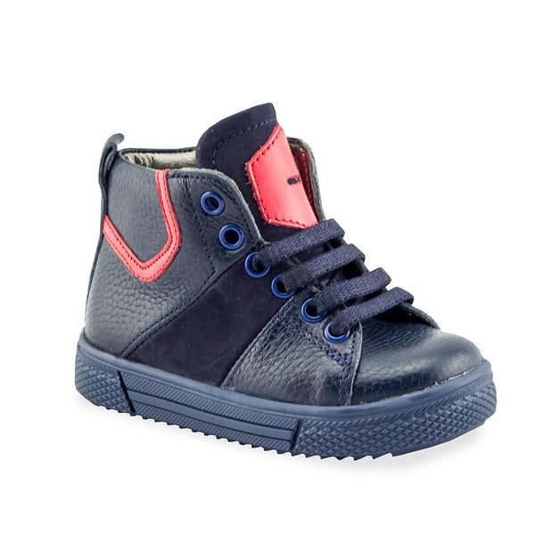 0425668cd0 New Collection. Hero Image for ROWDY CHARLES navy orthopaedic high-top  sneakers. First Walkers