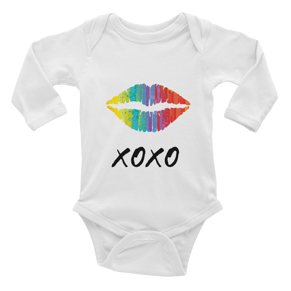 XOXO Lips Infant l/s one-piece - Wild Star Clothing