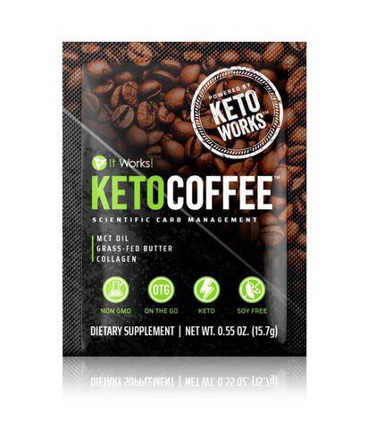 Keto Coffee™ powered by KetoWorks®! I  15 (15.7g) Single Serve packets