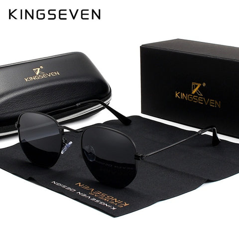 KINGSEVEN 2019 Classic Reflective Sunglasses Men Hexagon Retro Sun glasses Stainless Steel Eyewear Oculos Gafas De Sol Shades