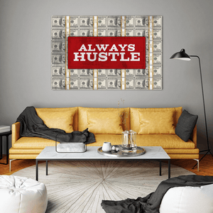 Always Hustle Cash Canvas Print