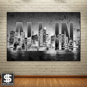 """All In"" Cityscape Canvas Print"