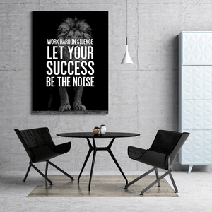 Work Hard in Silence Lion Canvas Print