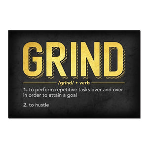 Definition of Grind Canvas Print