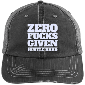 Zero Fu*%$ Given - Distressed Trucker Style