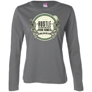 Hustle Until Your Bank Account Women's Long Sleeve