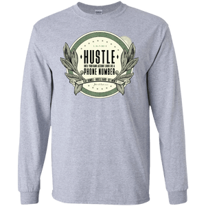 Hustle Until Your Bank Account Men's Long Sleeve