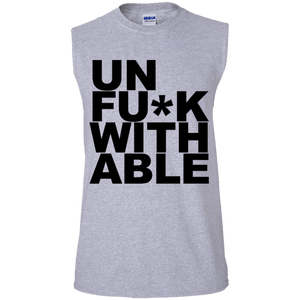 """UNFU*KWITHABLE"" Men's Ultra Cotton Sleeveless T-Shirt"