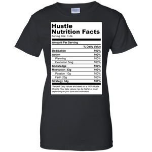 Reformulated: Hustle Nutrition Facts Women's Shirt