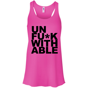 UnFuck With Able Flowy Racerback Tank