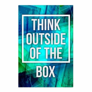Think Outside of the Box Canvas Print
