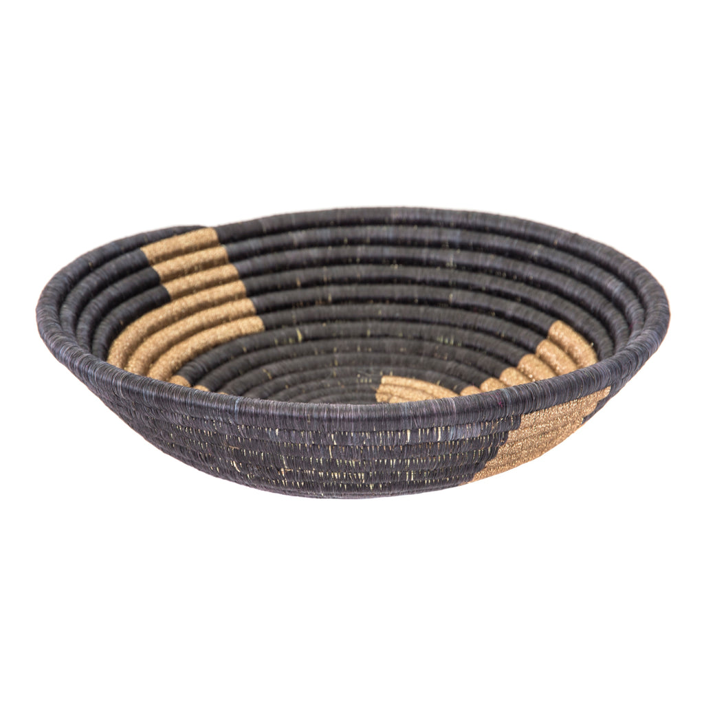 Basket black & gold plateau
