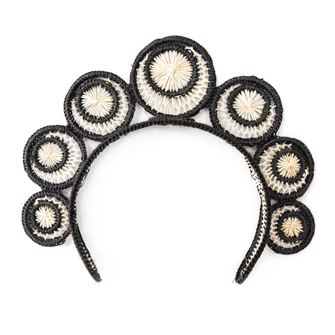 POLKACO Black Swirl Headpiece