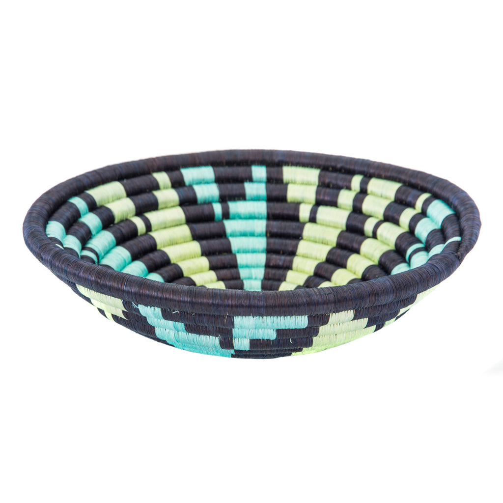Basket navy pattern plateau