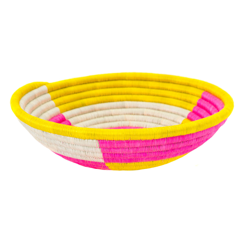 Basket Pink & Yellow Colour Block Plateau