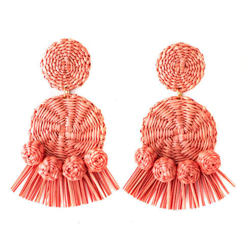 POLKACO Rosewood Tassel Drop Earrings