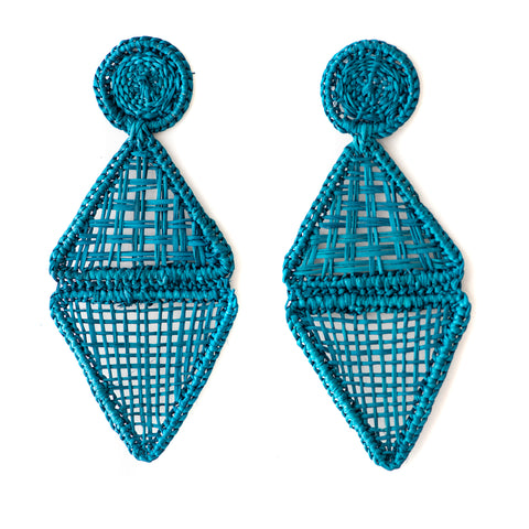 POLKACO Aqua Geo Drop Earrings