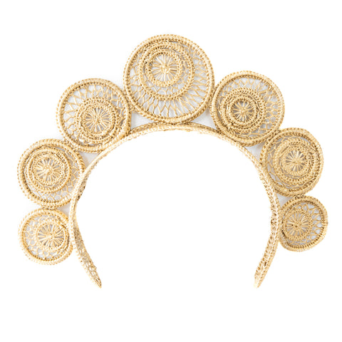 POLKACO Gold Swirl Headpiece