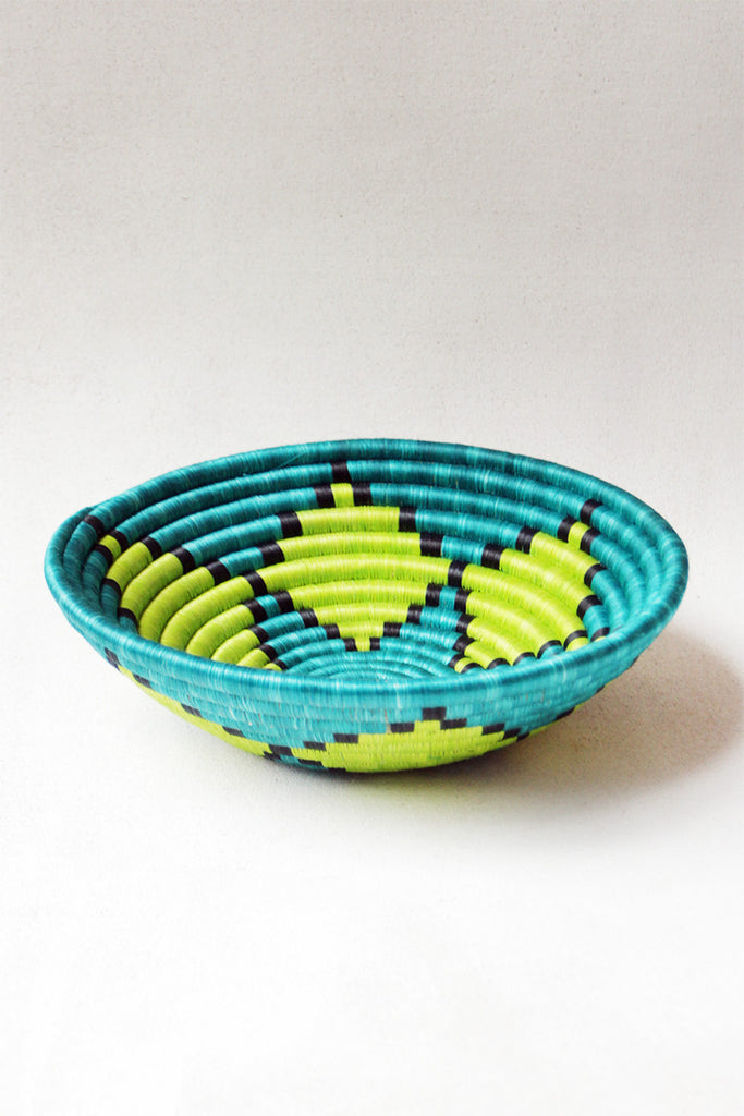 teal burst plateau basket