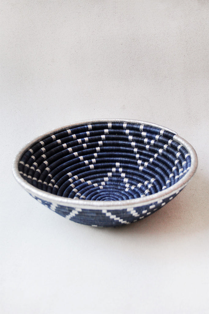 Basket Metallic Blue Plateau
