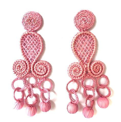 NEW POLKA.CO Pink Chandelier Drops