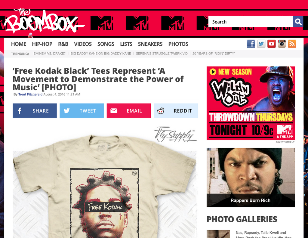 The BoomBox: 'Free Kodak Black' Tees Represent 'A Movement to Demonstrate the Power of Music'