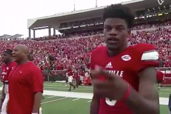 [Sports illustrated] Louisville QB Lamar Jackson after win: Free Kodak Black