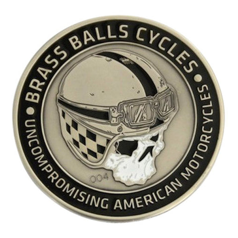 Brass Balls Cycles Challenge Coin