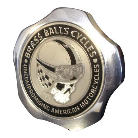 Brass Balls Cycles Challenge Coin Fuel Cap - Polished