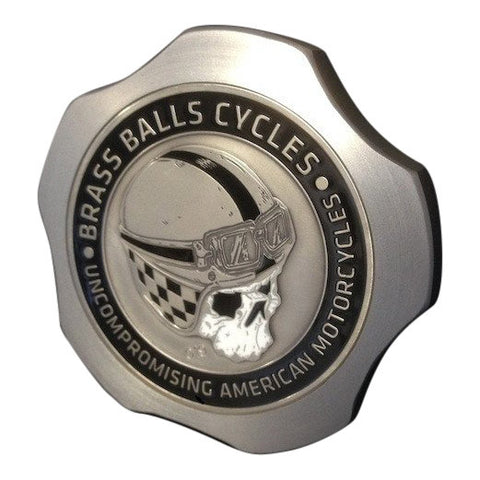 Brass Balls Cycles Challenge Coin Fuel Cap - Brushed