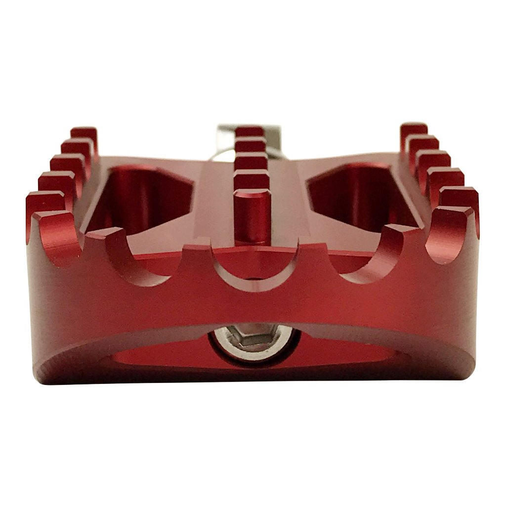 BBMX Foot Pegs: Red Anodized