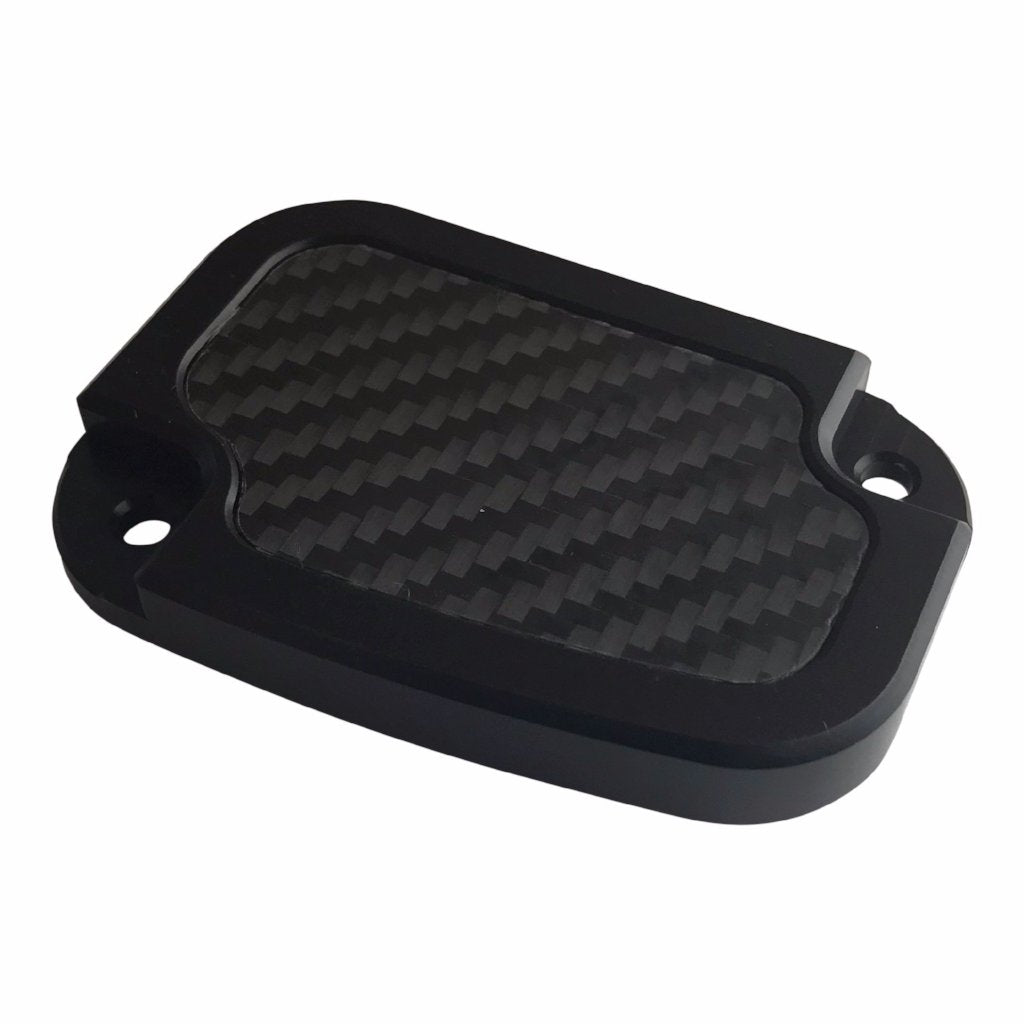 Master Cyl Cover Touring 2013-2018 Black with Carbon Fiber Inlay