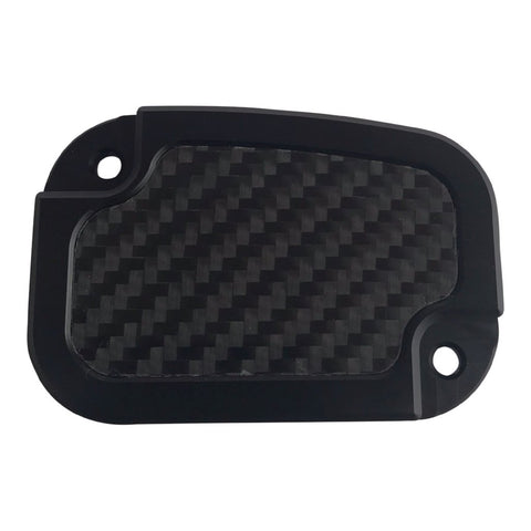 Clutch Master Cyl Cover Touring 2014-2018 Black with Carbon Fiber Inlay