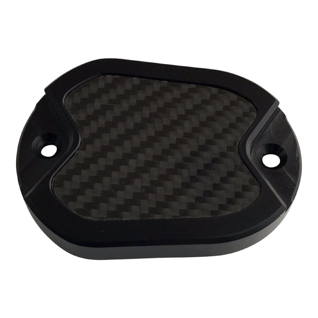 Master Cyl Cover Sportster 2004-2017 Black with Carbon Fiber Inlay