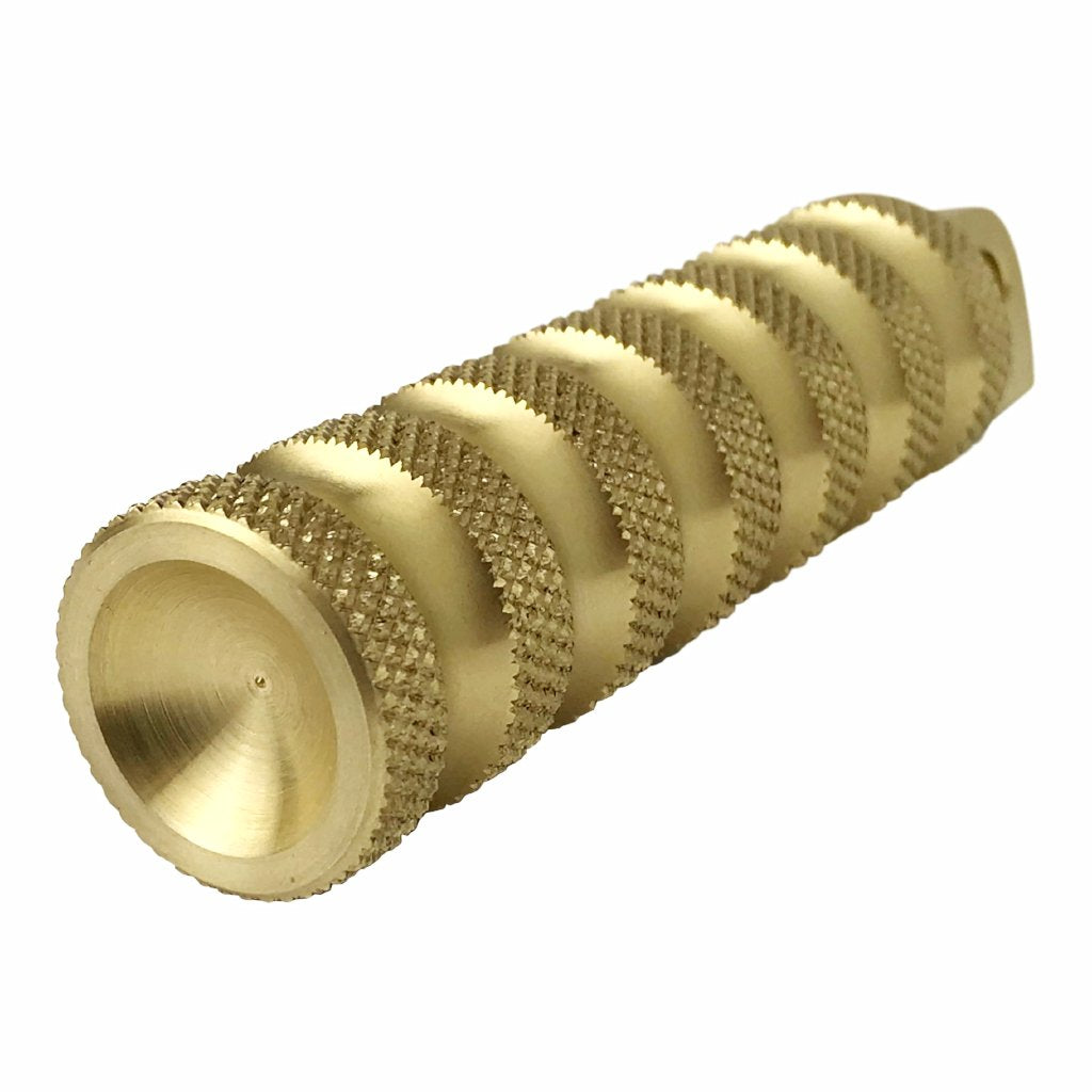 Ribbed Brass Foot Pegs
