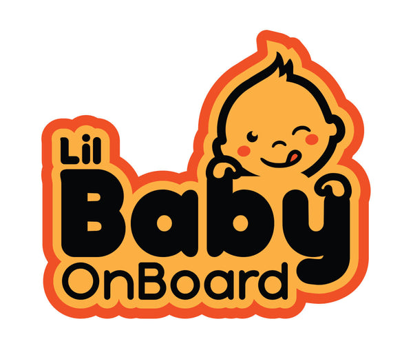 Sticker - Lil Baby On Board Car Sticker Only