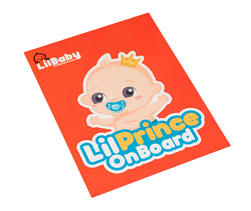 Sticker - Lil Prince Baby On Board Sticker (Front Side)