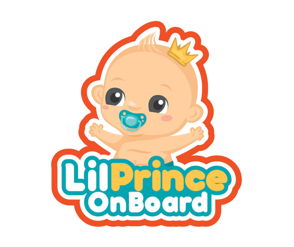 Sticker - Lil Prince Baby On Board Sticker Only