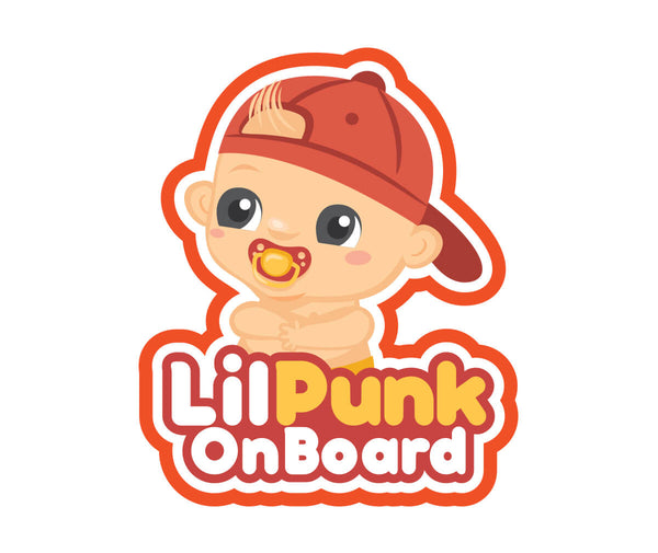 Sticker - Lil Punk Baby On Board Sticker Only