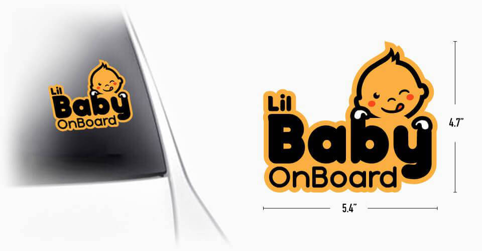 Lil Baby On Board Car Sticker detailed specs