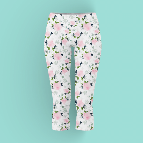 cat floral yoga leggings