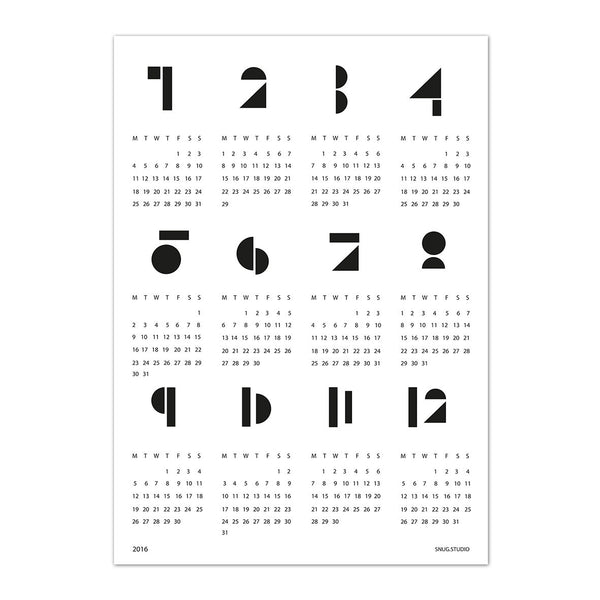 Snug Toy Block Calendar White